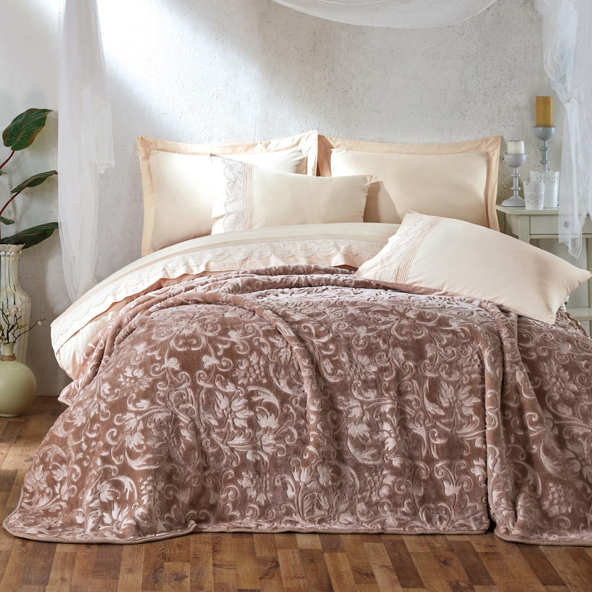 Постельный комплект с одеяло emboss