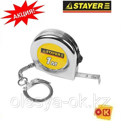 """Рулетка-брелок MINI 1 м х 6 мм. """"STAYER"""" STANDARD, фото 2"""