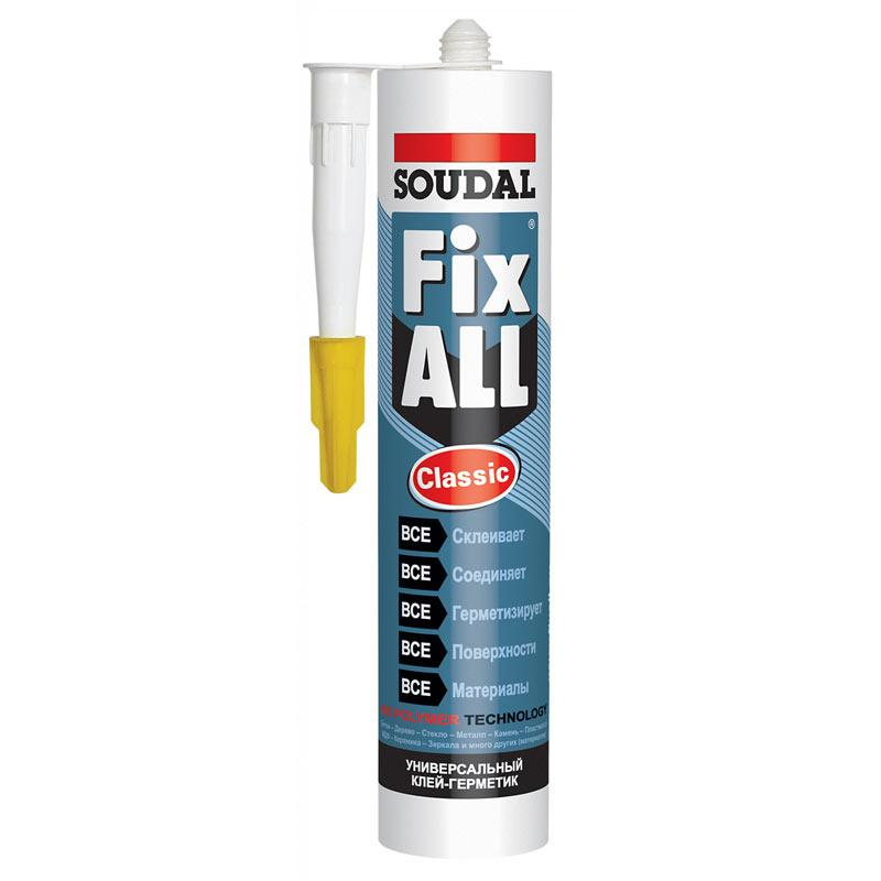 Универсальный клей-герметик Soudal Fix All Classic
