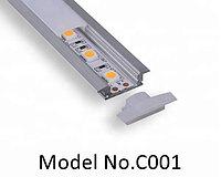 Led профиль С001 24.6x7 mm, для рекламных услуг, офисного освещения