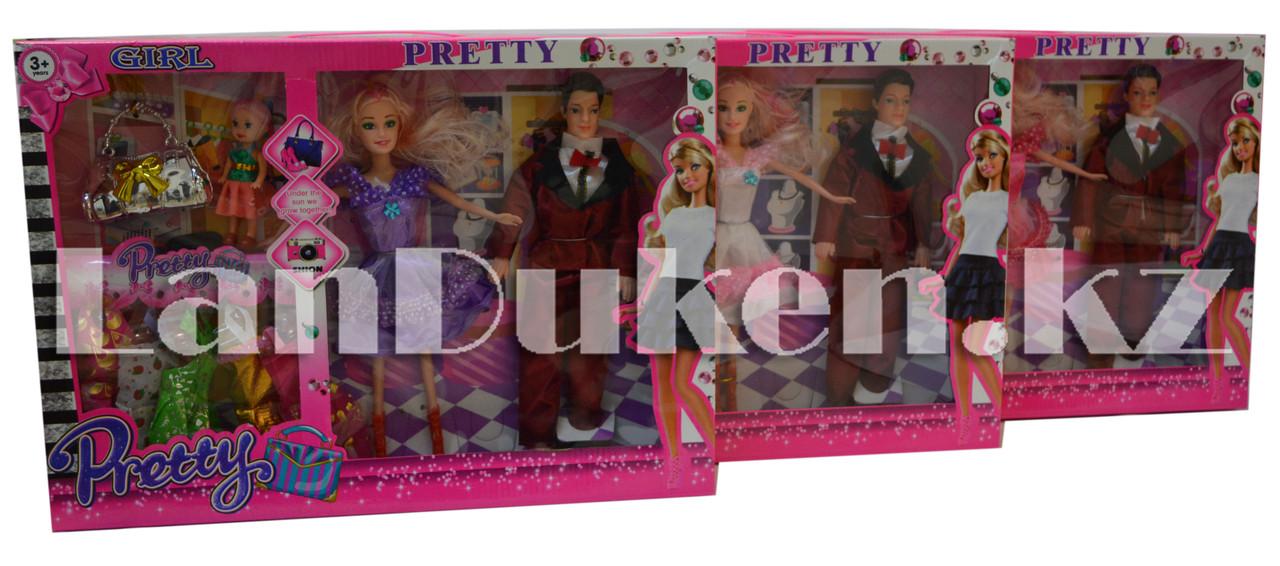 Набор кукол с аксессуарами Pretty Girl семья с ребенком