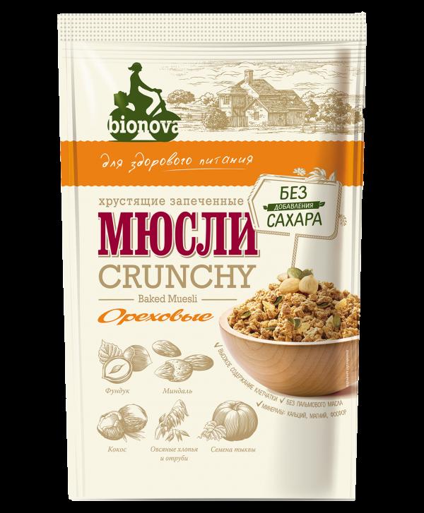 Гранола (Мюсли) Bionova® без сахара Ореховая 400г