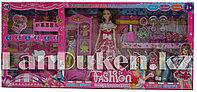 Кукла с аксессуарами и комплектом платьев и мебелью (Высота куклы 28 см)