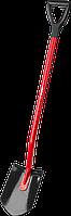 Лопата ЗУБР штыковая, эргономичный стальной черенок, с рукояткой, 280х190х1200 мм