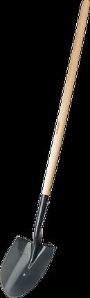 Лопата  штыковая ЗУБР ЛСГ для земляных работ, деревянный черенок, 474х215х1514 мм, фото 2