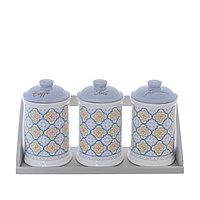 Набор керамических банок из 3-х предметов.