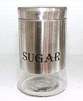 Емкость для сахара, серебристая, 1 л.