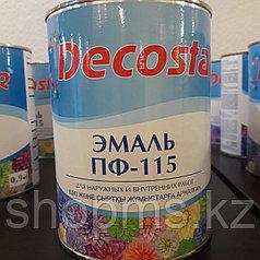 Эмаль ПФ-115 Decostar /черная 0,9кг