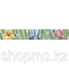 Керамическая плитка PiezaROSA Фиори бордюр ирисы 267017 (40*6)
