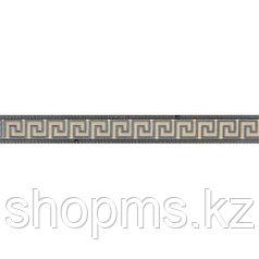 Керамическая плитка PiezaROSA Шампань бордюр коричневый стекло 264862 (45*6)