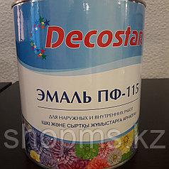 Эмаль ПФ-115 Decostar /черная 2,7кг