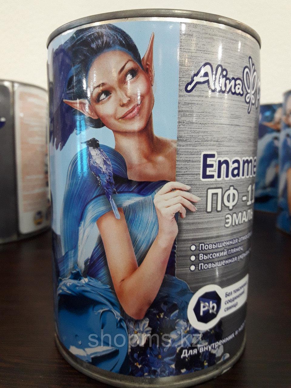 Эмаль ПФ-115 Alina Paint Enamela *0,9 кг белая