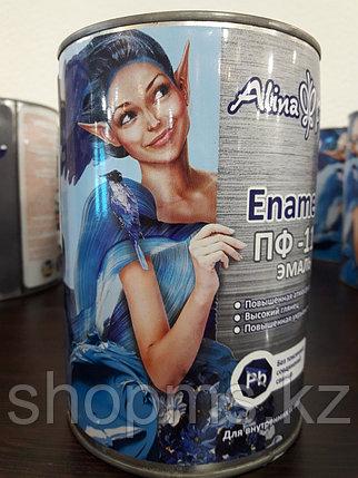 Эмаль ПФ-115 Alina Paint Enamela *0,9 кг белая, фото 2