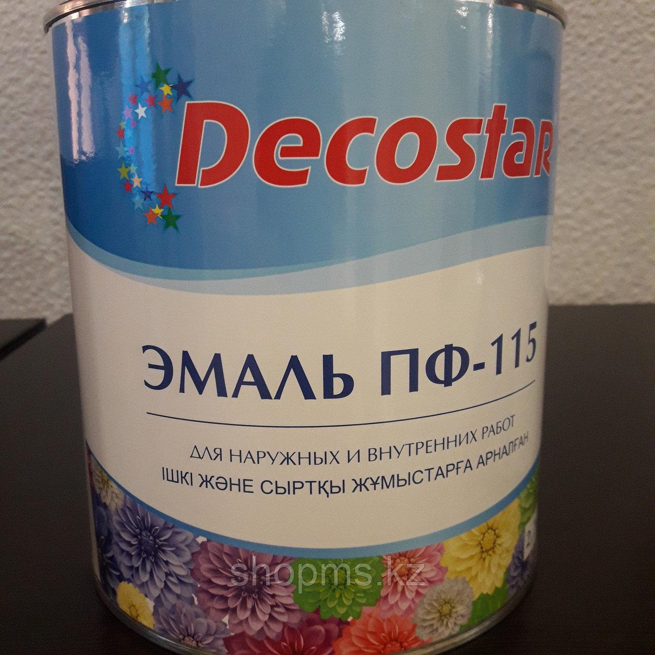 Эмаль ПФ-115 Decostar /голубая 2,7кг