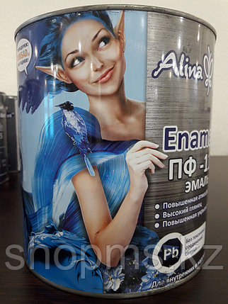 Эмаль ПФ-115 Alina Paint Enamela *2,7 кг белая, фото 2