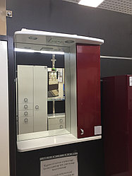 "Зеркало Lindis ""Аллегро 60"" шкафчик справа с п/свет, Бордовый металлик   ***"