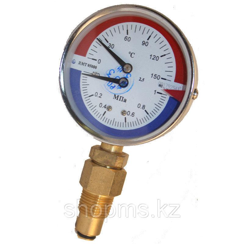 Манометр с термометром Стеклоприбор ДМТ-05080 1,6МПа 0-150с