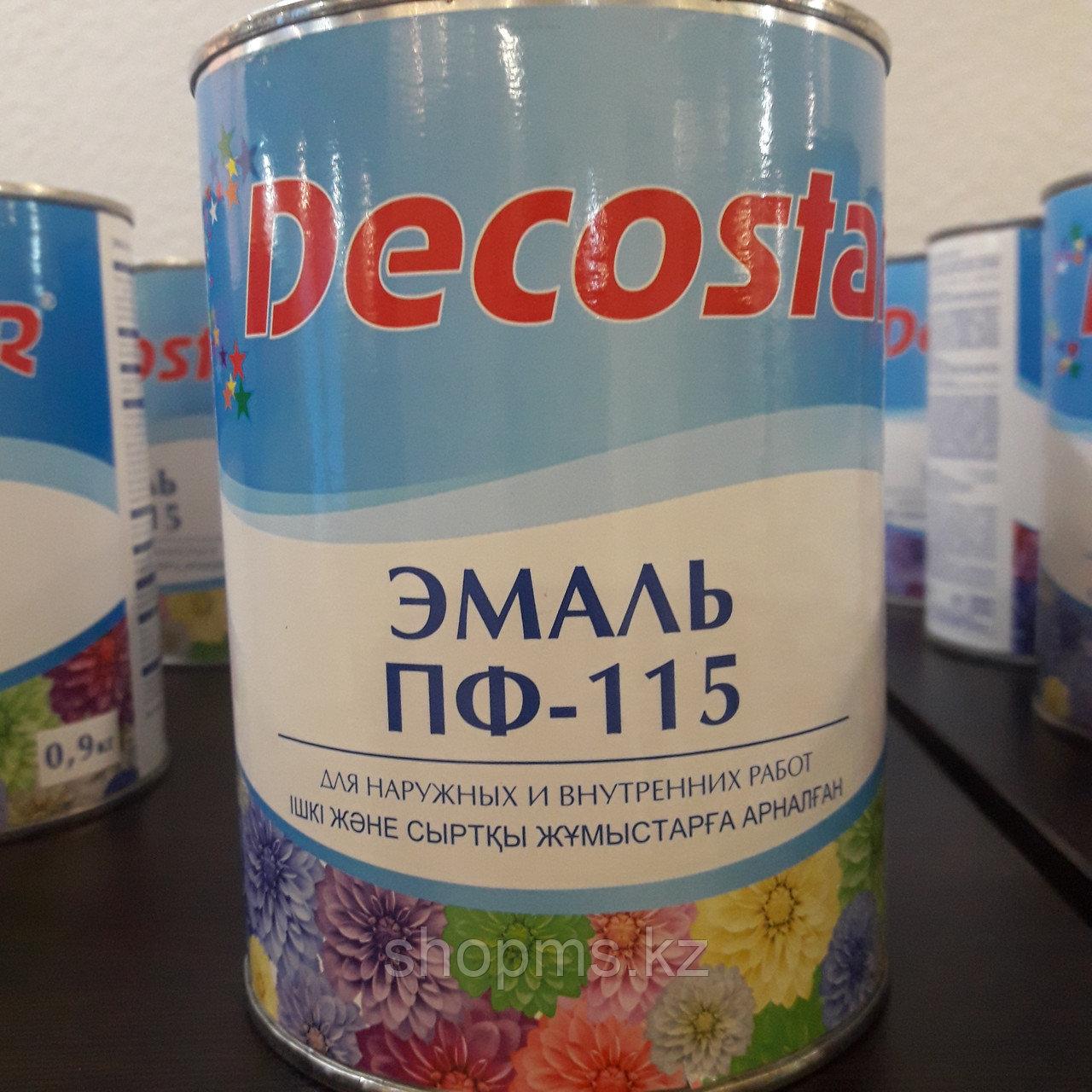 Эмаль ПФ-115 Decostar /голубая 0,9кг