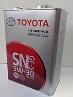 Замена масла в двигателе Toyota  Previa 2.4 (масло + фильтр)  оригинальное моторное масло тойота 5W30, фото 1
