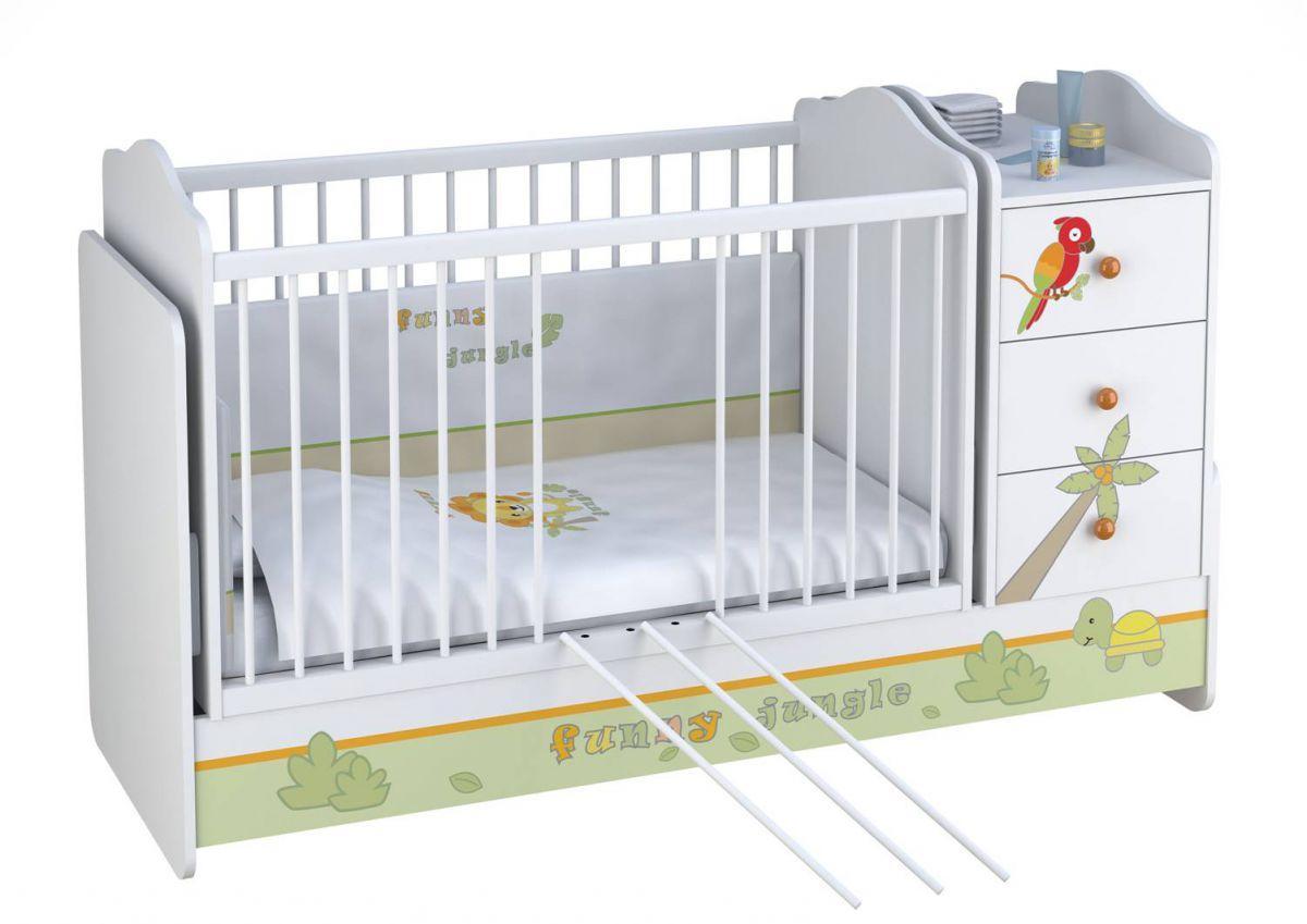 """Кроватка - трансформер Polini """"Джунгли"""""""