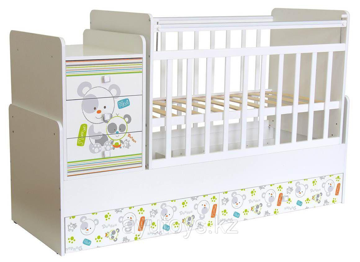 """Кроватка - трансформер Фея """"1100 с рисунками"""