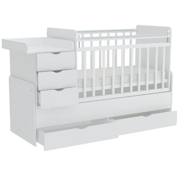 """Кроватка - трансформер Фея """"1150"""" (белый)"""