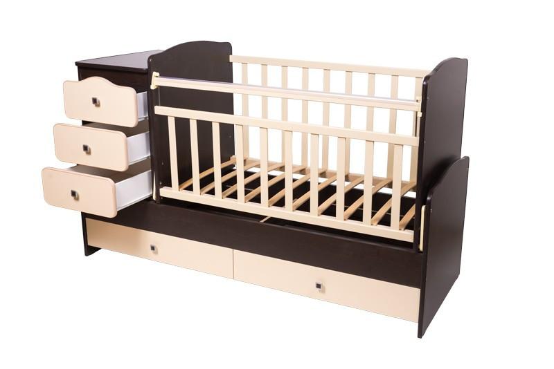 """Кроватка - трансформер Фея """"2100"""" 3 в 1 Разные цвета"""