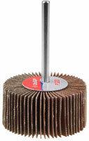 Круг шлифовальный ЗУБР веерный лепестковый, на шпильке, тип КЛО, зерно - электрокорунд нормальный 15 мм