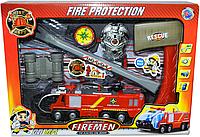 Немного помятая!!! S4 726 Пожарная машина FIRE PROTECTION свет/звук/можно наливать воду 30*40