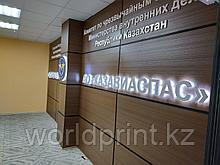 Стеновые панели с объемными буквами