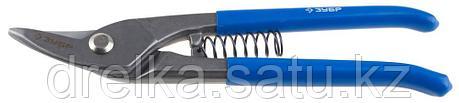 ЗУБР Ножницы по металлу цельнокованые, изогнутые левые, Cr-V, 220 мм, серия Профессионал, фото 2
