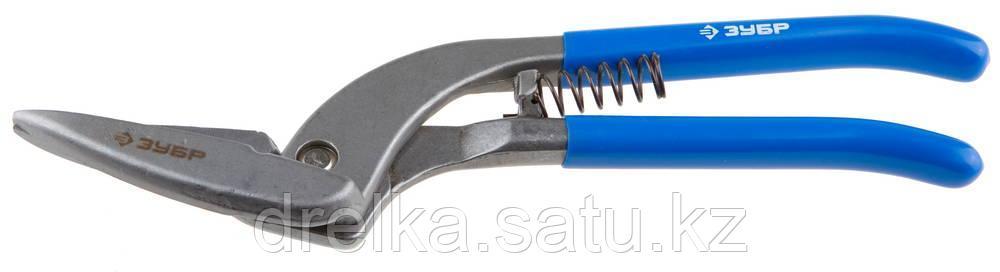 ЗУБР Ножницы по металлу цельнокованые Пеликан, левые, проходной рез, Cr-V, 300 мм, серия Профессионал