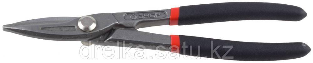 ЗУБР Ножницы по металлу цельнокованые, прямые, У8А, 200 мм