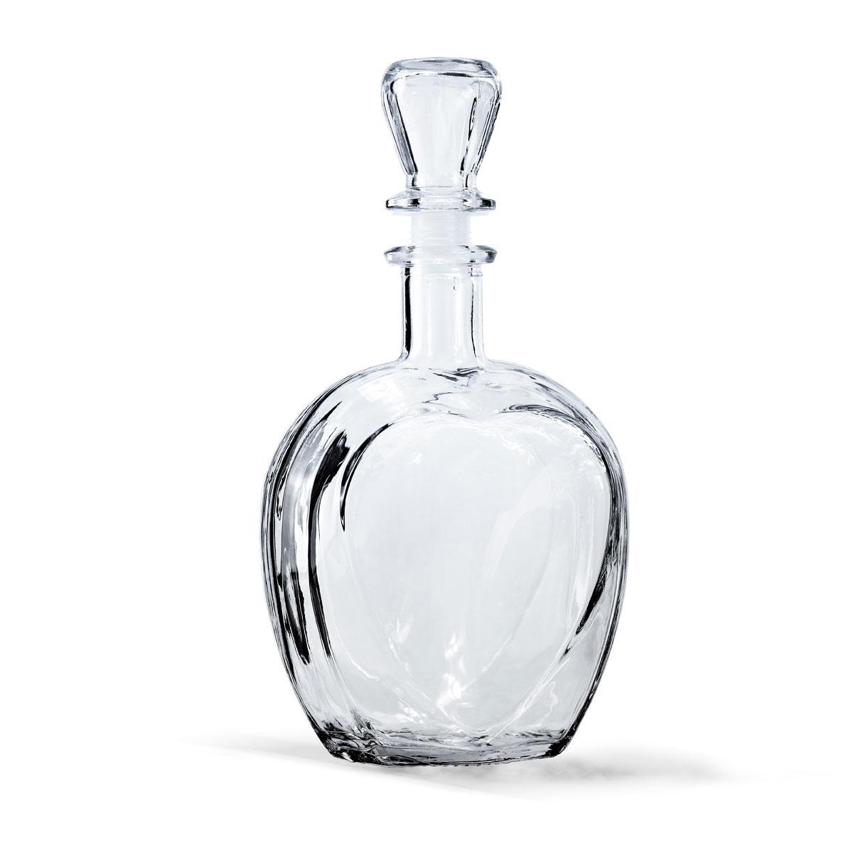 """Штоф """"Сердце"""" (стекло) 0,5 литра с пробкой"""