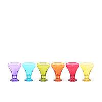 Набор из 6-ти разноцветных чашек для мороженого (креманок)