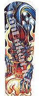 Временное тату полный рукав с узором Дракона разноцветный QB-3005 15х43 см