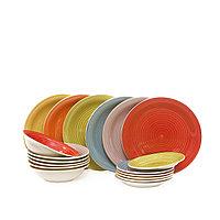 Керамический набор посуды 18 предметов. «HAPPINESS».