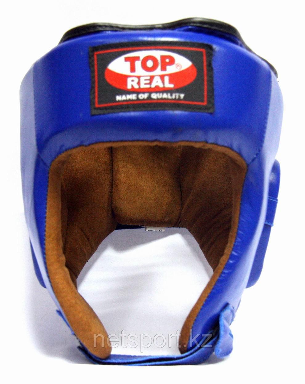 Шлем боксерский Top Real кожа