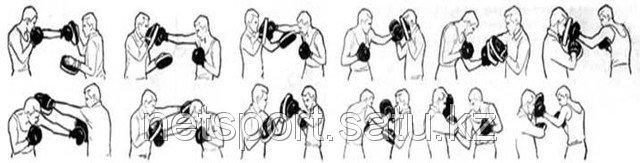 Боксерские лапы кожа  заменитель, фото 3