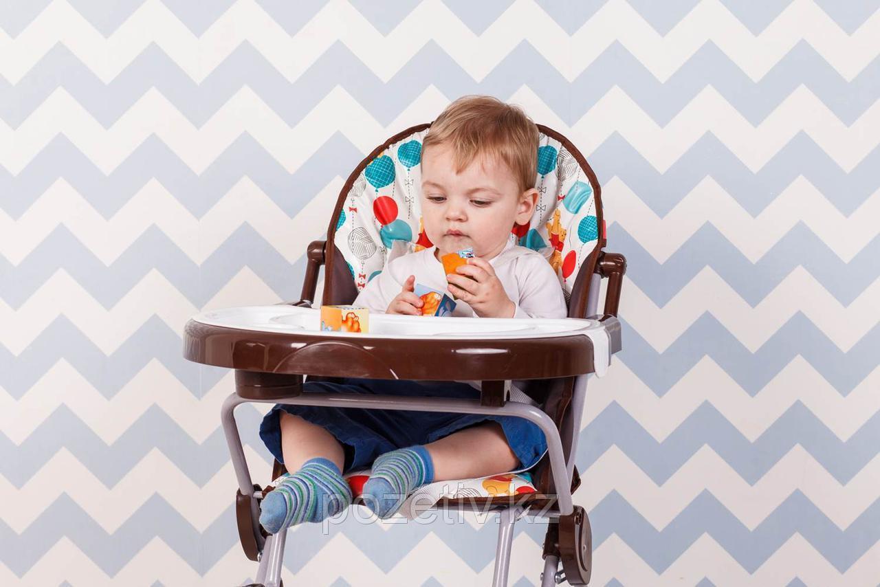 """Стульчик для кормления Polini Disney baby 252 Медвежонок Винни """"Чудесный день"""", макиато"""