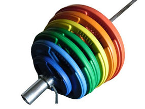 Олимпийский диск евро-классик с тройным хватом, блины для штанги D=50мм. (15+15кг), фото 3