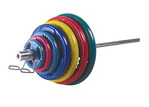 Олимпийский диск евро-классик с тройным хватом, блины для штанги D=50мм. (15+15кг), фото 2