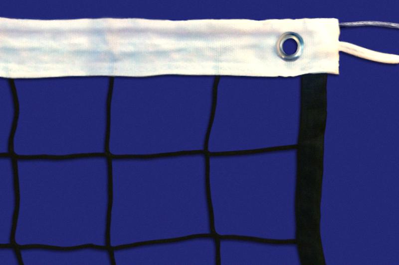 Сетка волейбольная, нить D=2,5 мм, стальной трос D=3 мм