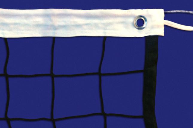 Сетка волейбольная, нить D=2,5 мм, стальной трос D=3 мм, фото 2