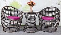 Плетеная мебель  Стол + 2 кресла, фото 2
