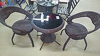 Набор мебели, ротанг. Стол + 2 стула., фото 2