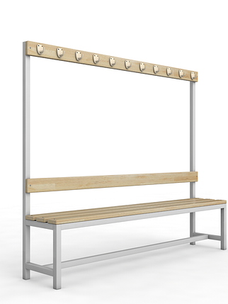 Скамейка для раздевалки c вешалкой односторонняя, фото 2