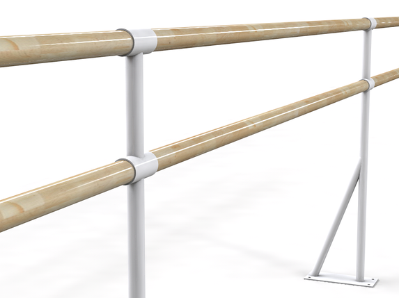 Балетный напольный двухрядный станок  1м, фото 2