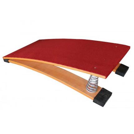 Мостик гимнастический пружинный с гнутой платформой, фото 2