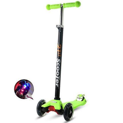Самокат трехколесный 21st scooter maxi со светящимися колесами 21vek зеленый, фото 2